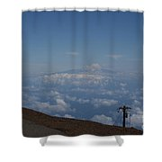 Big Island - Island Of Hawaii - View From Haleakala Maui Shower Curtain