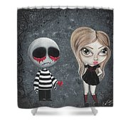 Big Juicy Tears Of Blood And Pain 8 Shower Curtain