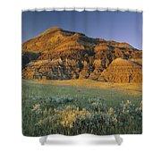 Big Muddy Badlands, Saskatchewan, Canada Shower Curtain