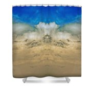 Big Ol Clouds Panorama Shower Curtain