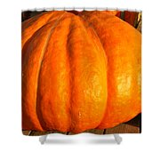 Big Orange Pumpkin Shower Curtain