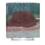 Big Pile Of Mulch Time Shower Curtain