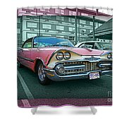 Big Pink Dodge Shower Curtain