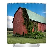 Big Red Barn On Rt 227 Shower Curtain