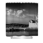 Big Red Lighthouse In Holland Michigan Shower Curtain