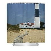 Big Sable Lighthouse In Ludington Michigan Number 3 Shower Curtain