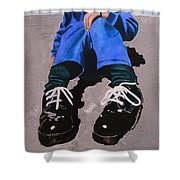 Big Shoes Shower Curtain