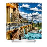Big Sky Ski Resort Montana Shower Curtain
