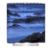 Big Sur Mist Shower Curtain