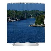 Big Tub Bay Shower Curtain