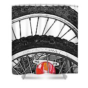 Big Wheels Keep On Turning Shower Curtain