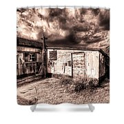 Big Wind Shower Curtain