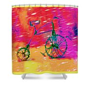 Bike 1a Shower Curtain