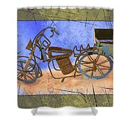 Bike 2a Shower Curtain
