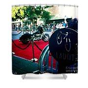 Bike Parking Shower Curtain