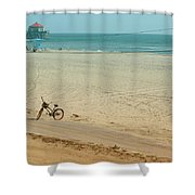 Biked To The Beach Shower Curtain
