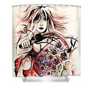 Biker Girl Shower Curtain
