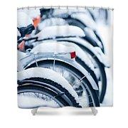 Bikes In Snow Shower Curtain