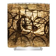 Bikes On The Canal Shower Curtain