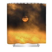 Billowing Sunrise Shower Curtain