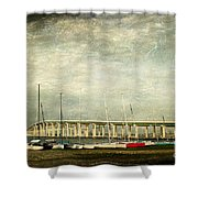 Biloxi Bay Bridge Shower Curtain