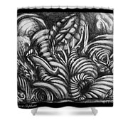 Biomorphic Shower Curtain