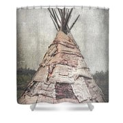 Birch Teepee Shower Curtain