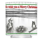 Bird Song For Christmas Shower Curtain
