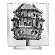 Birdhouse, 19th Century Shower Curtain