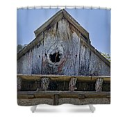 Birdhouse In Cambria Shower Curtain