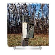Birdhouse On A Pole Shower Curtain