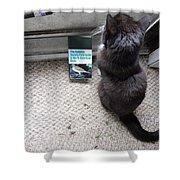 Birding Cat One Shower Curtain