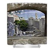 Bird's Eye View Of Dubrovnik Shower Curtain