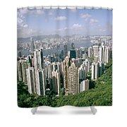 Birds Eye View Over Hong Kong Shower Curtain