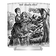 Birds Nest, 1873 Shower Curtain