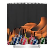 Birthday Candles Shower Curtain
