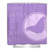 Birthday Girl Greeting Card - Mourning Cloak Butterfly Shower Curtain