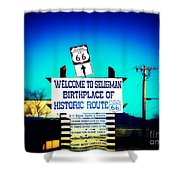 Birthplace Of Route 66 Shower Curtain