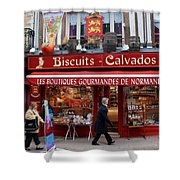 Biscuits And Calvados Shower Curtain