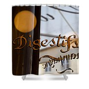 Bistro Sign For Digestives Shower Curtain