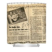 Bits From Danish Article From The Fifties Shower Curtain