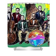 Bix Jazz Band Shower Curtain