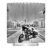Black And White - Pgr At Houston National Cemetery Shower Curtain