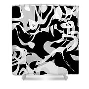 Black And White Abstract Art Shower Curtain