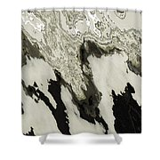 Black And White Abstract I Shower Curtain