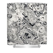 Black And White Abstract II Shower Curtain