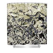 Black And White Abstract IIi Shower Curtain