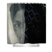 Black And White And Grey Shower Curtain