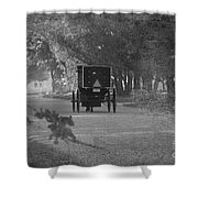 Black And White Buggy Shower Curtain