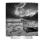 Black And White In Dungeness Shower Curtain